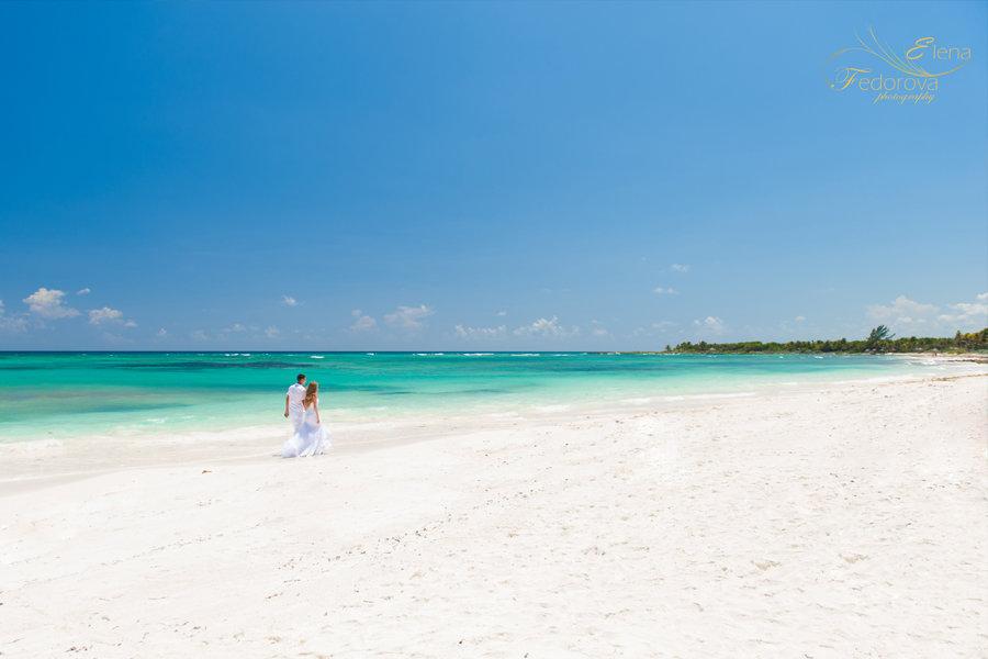 пляж на риьвера майя в мексике