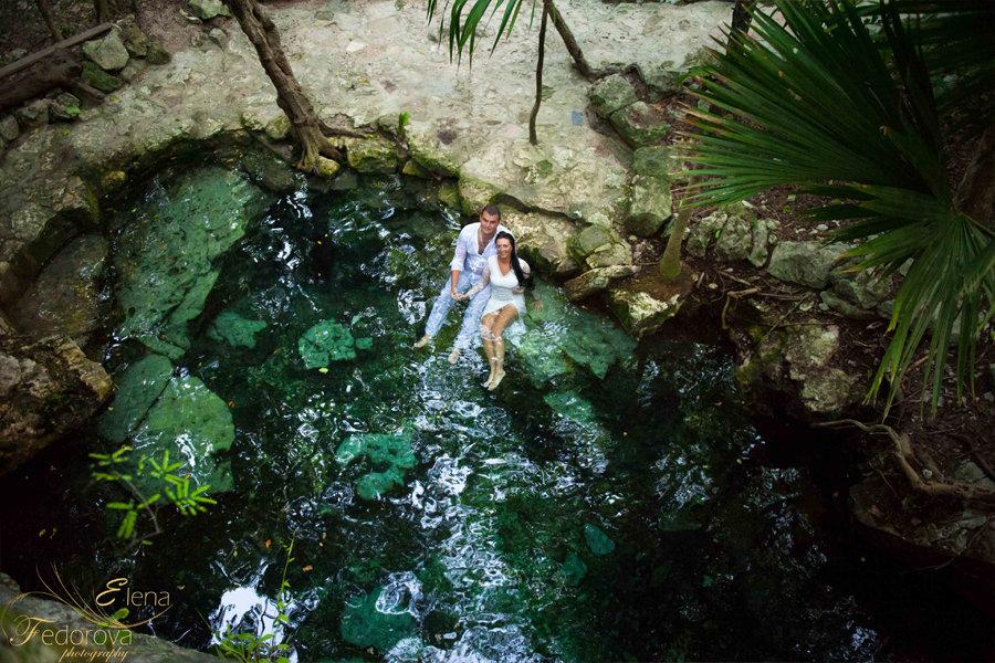необычные фотосессии в мексике сенот
