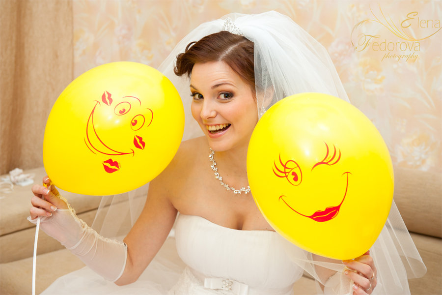 веселая невеста фото