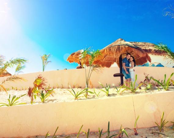 Фотограф Канкун. Яркая фотосессия на пляже