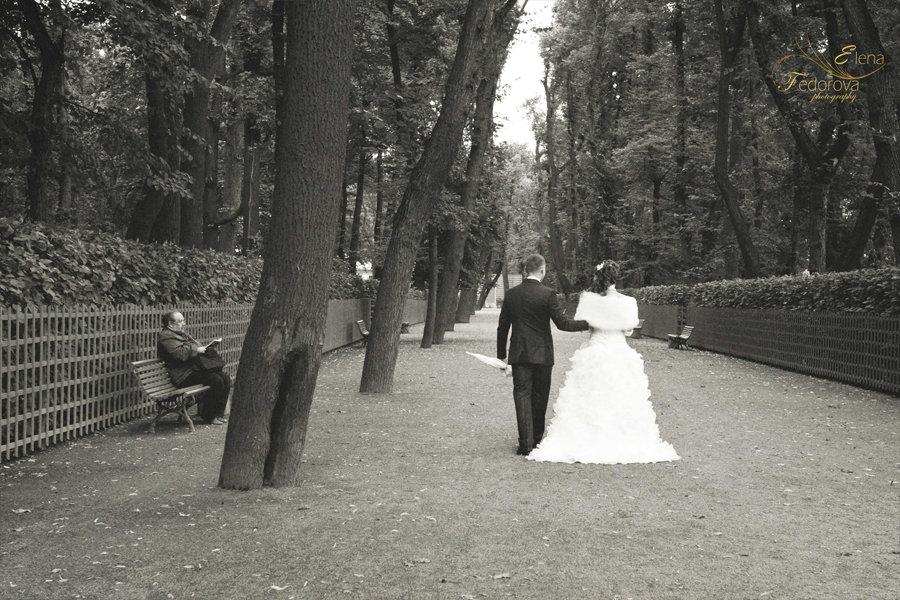 свадебные фотографии парк