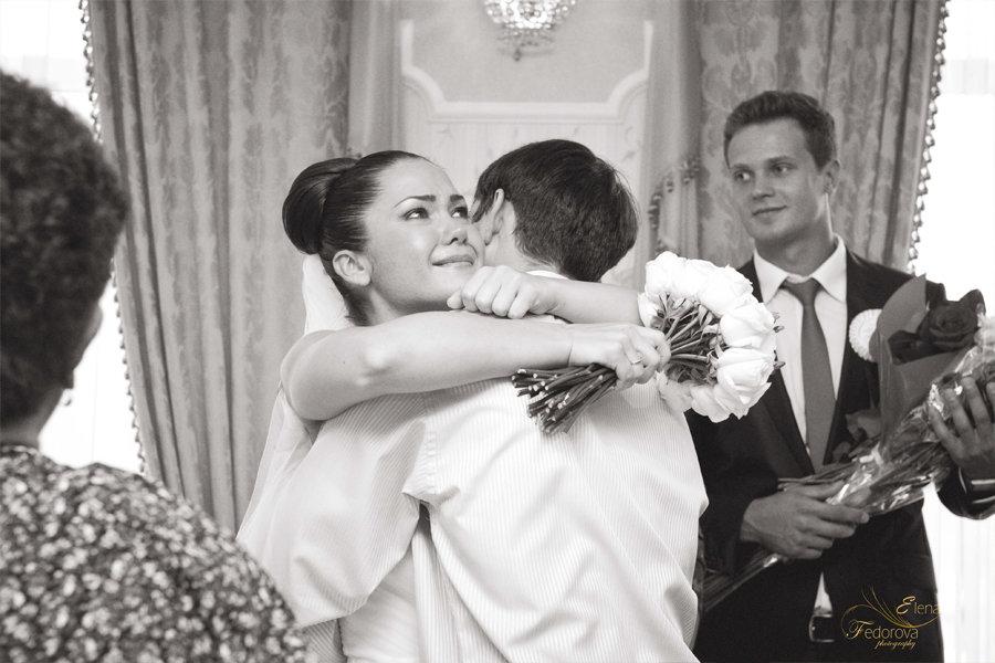 невеста на свадьбе слезы