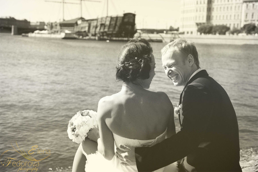 профессиональное свадебное фото река нева