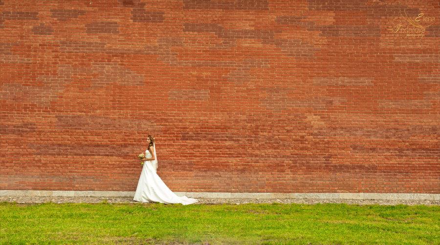 свадебное фото прохода невесты