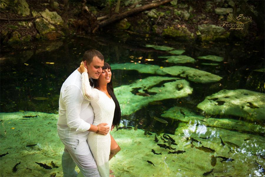 романтическая фотосессия сеноты мексика
