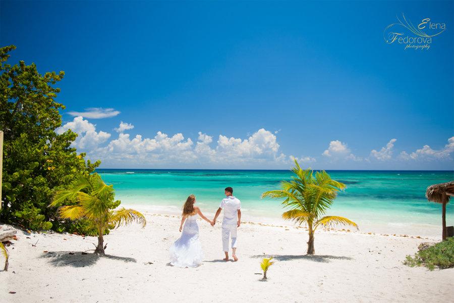 свадебная фотосессия на пляже ривьера майя