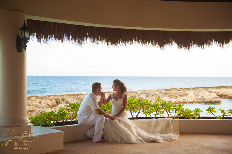 свадебная фотосессия на пляже за границей