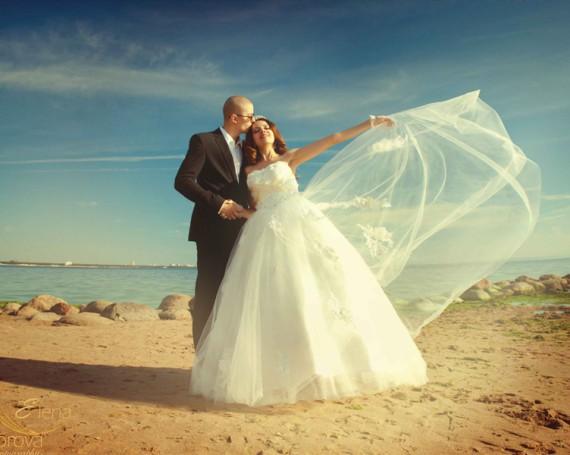 Красивый романтизм свадебных фотографий