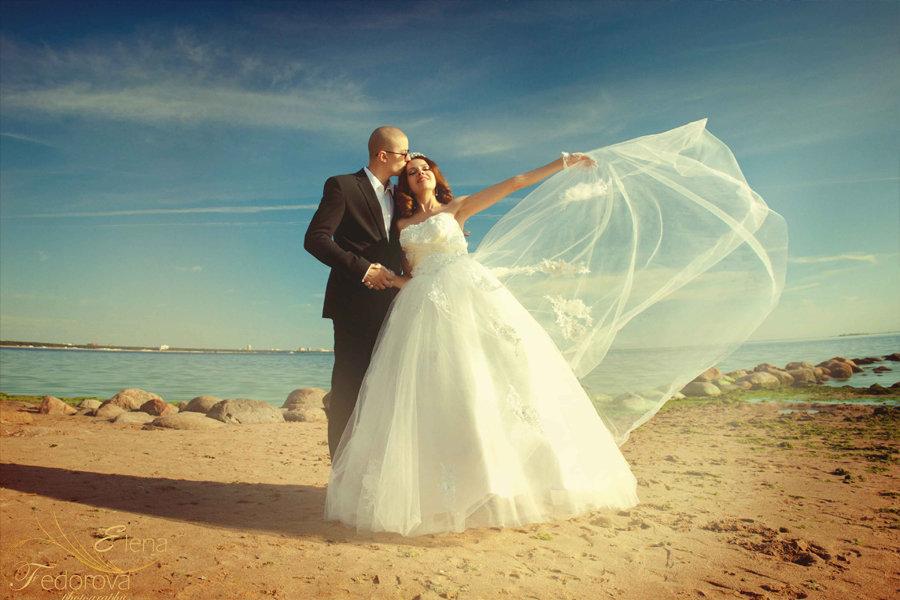 свадебная фотосъемка на заливе