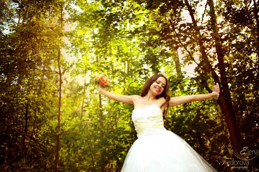свадебная фотосъемка невесты