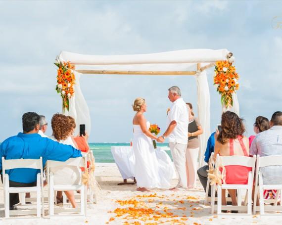Свадьба на пляже. Ривьера Майя, Мексика