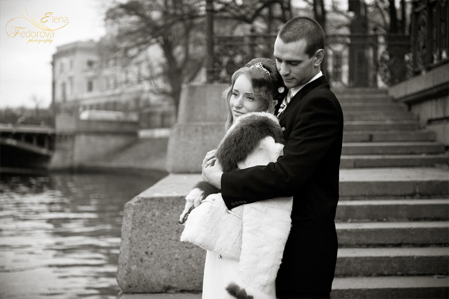 свадебная фотография черно белая