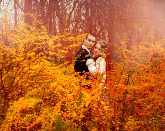 Фотосъемка свадьбы золотой осенью