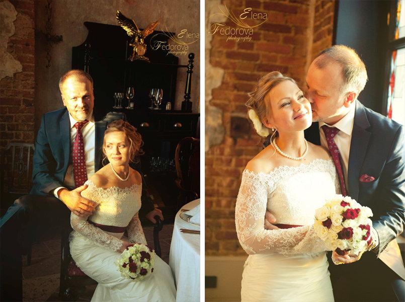 свадебное фото в замке