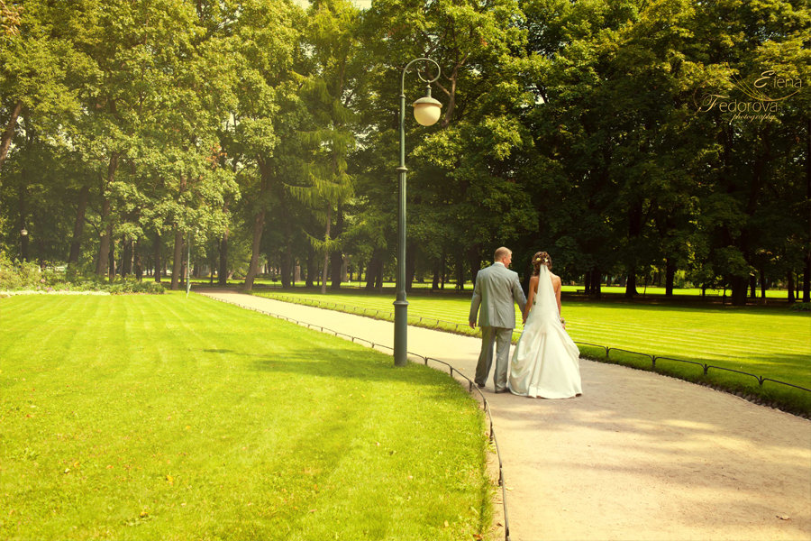 свадебная прогулка летний сад