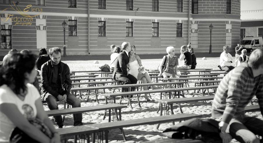 черно белая свадебная фотография