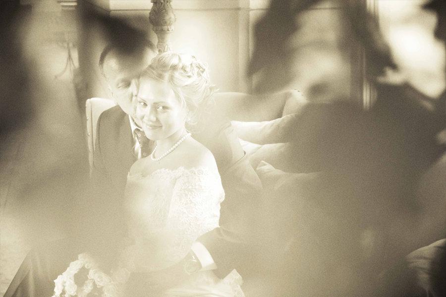 черно белое свадебное фото