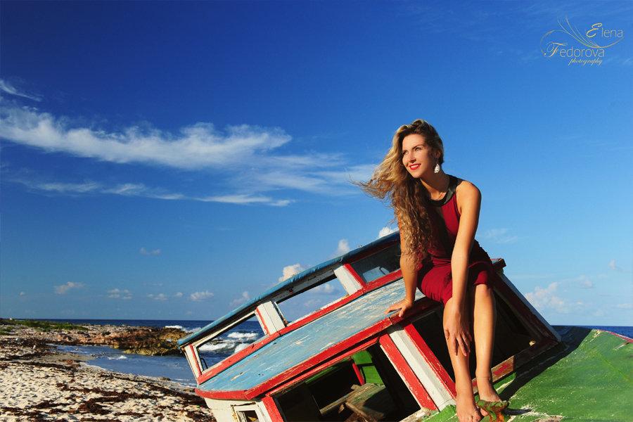 фотосессия девушки на пляже