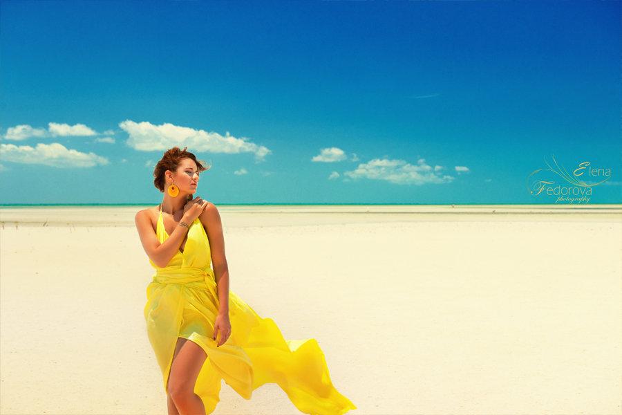 яркая фотосессия на пляже мексика