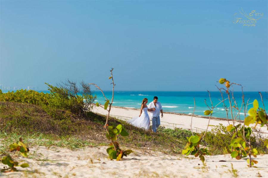 фотосет на пляже в канкуне