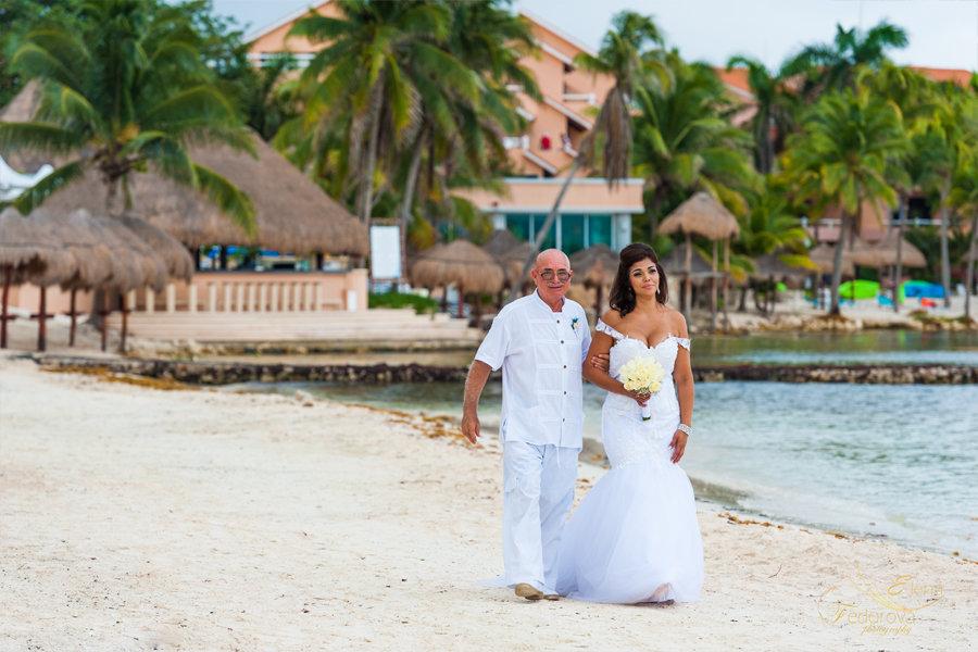 свадебный проход невесты
