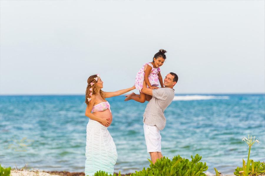 фотосессия беременных летом море