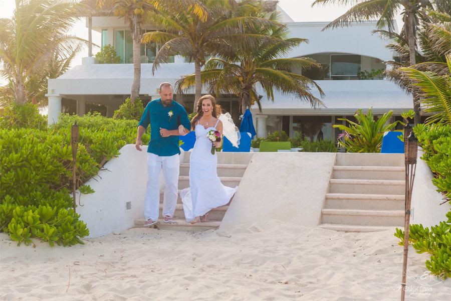 свадьба в мексике на вилле