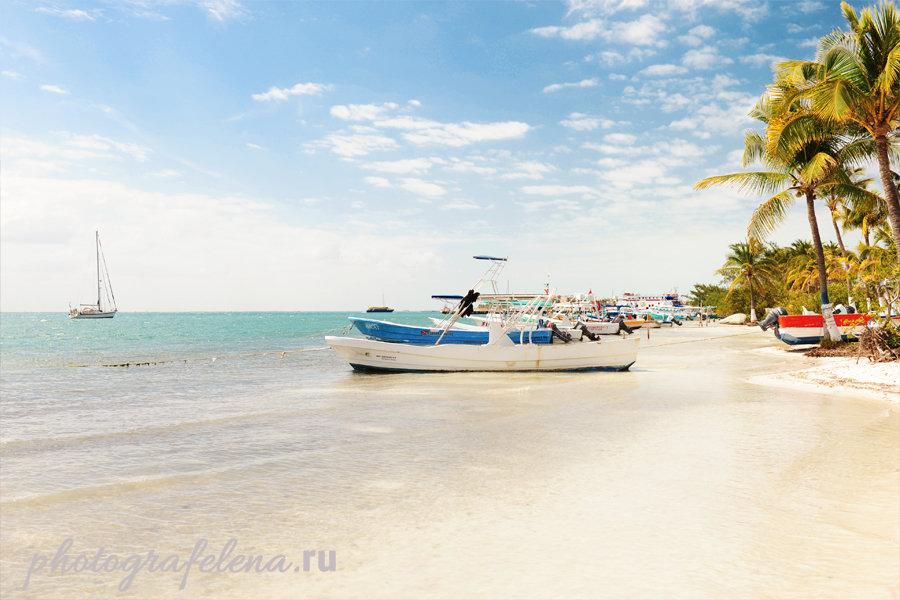 лодки на исла мухерес мексика