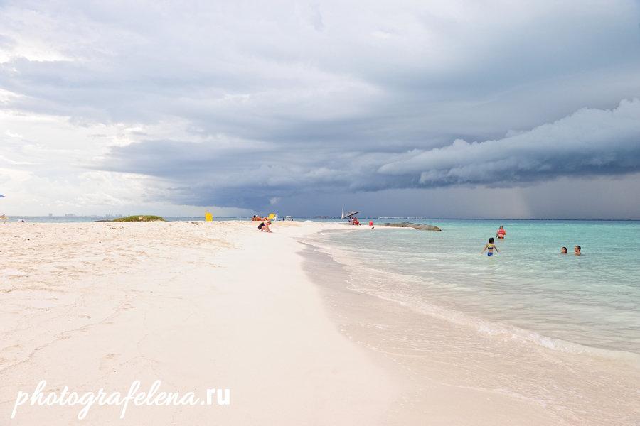 пляж плая норте на исла мухерес