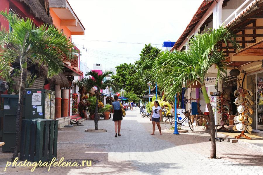 улицы на острове женщин в мексике
