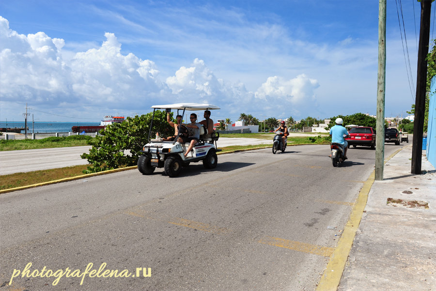 транспорт на исла мухерес мексика
