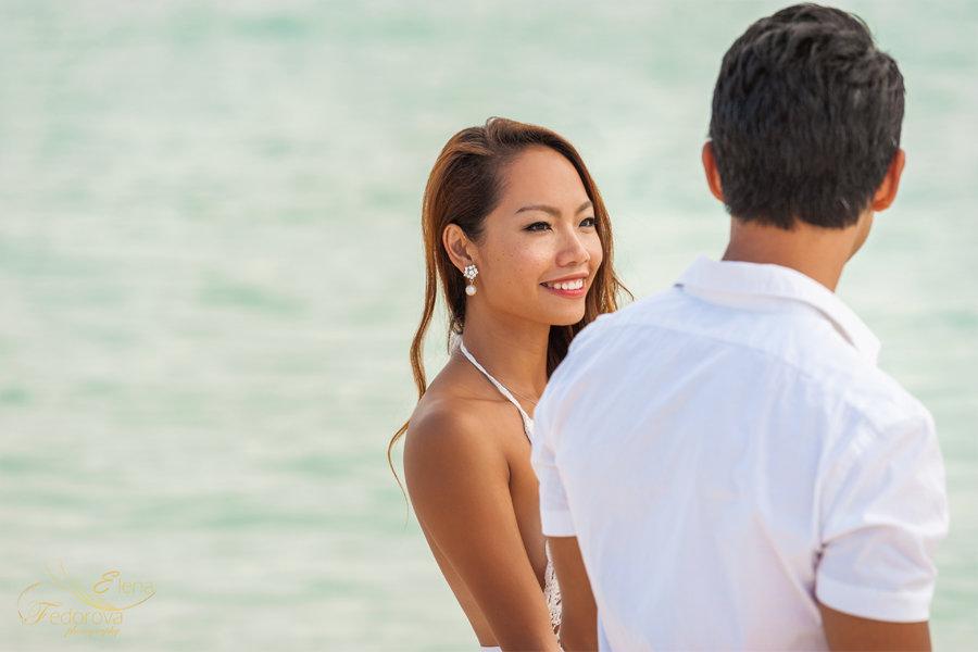 пляжный портрет девушки