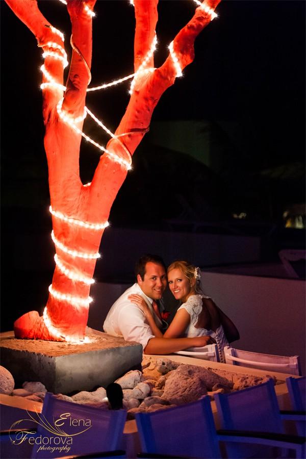 красивая свадебная фотография вечерняя