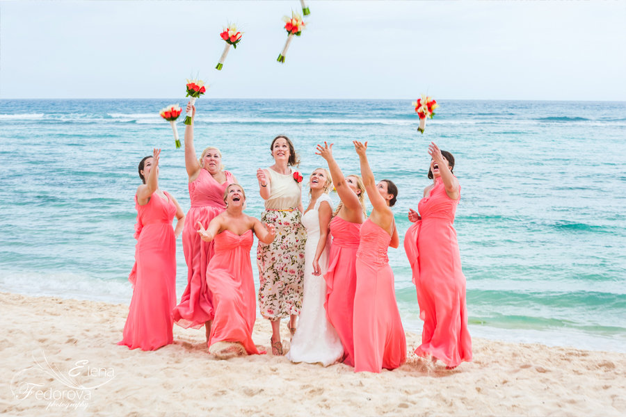 фото невесты с подружками на пляже