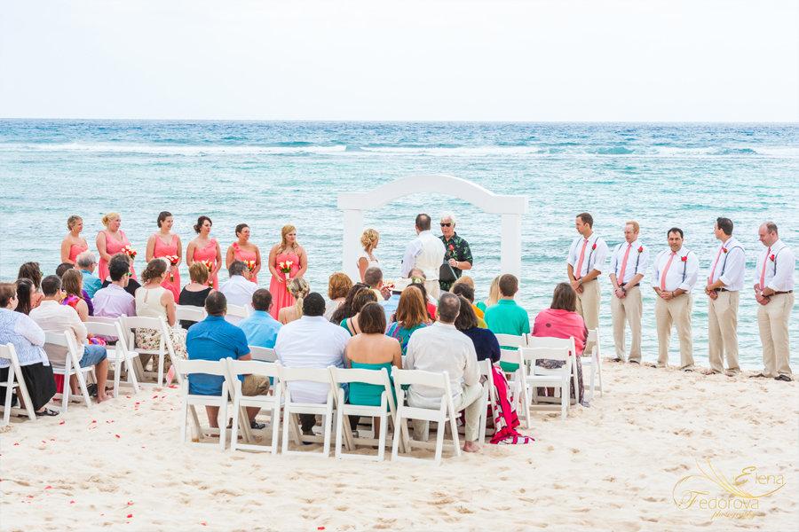 свадебная церемония пляж мексика тулум