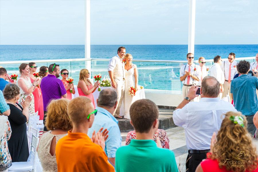 свадебное гуляние после церемонии