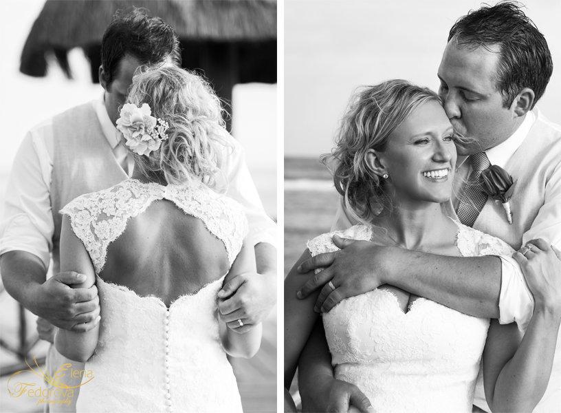 черное белое свадебное фото