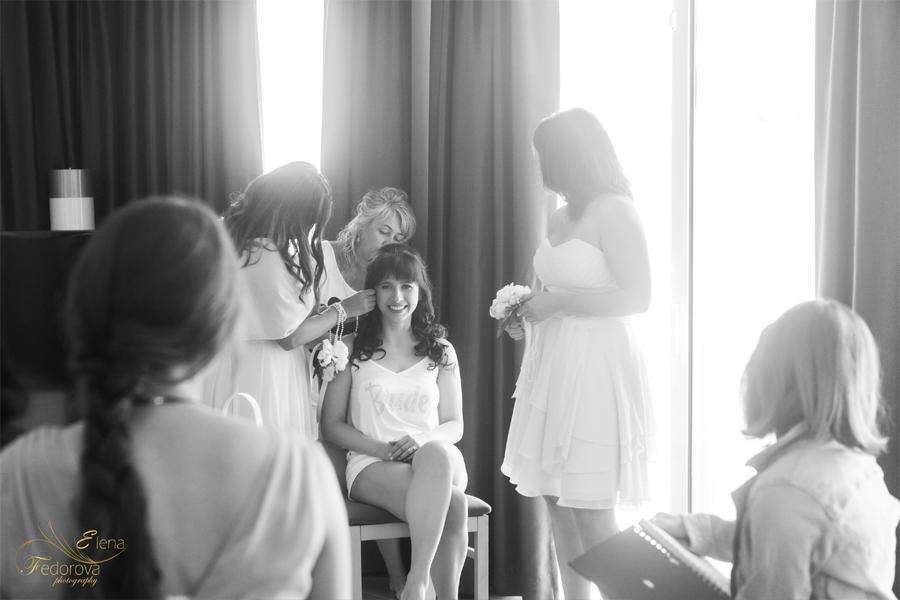 сборы невесты во отеле