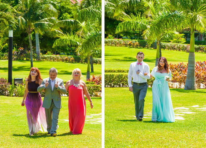 свадебная церемония начало