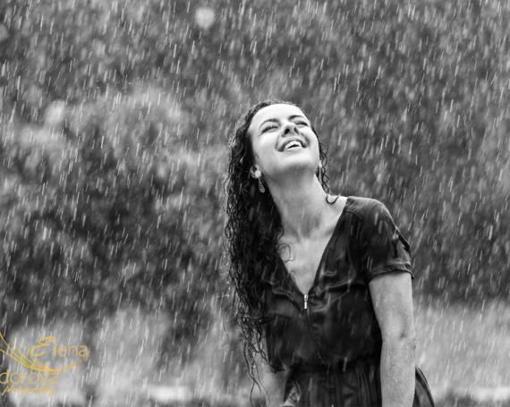 Арт фотосессия под дождем