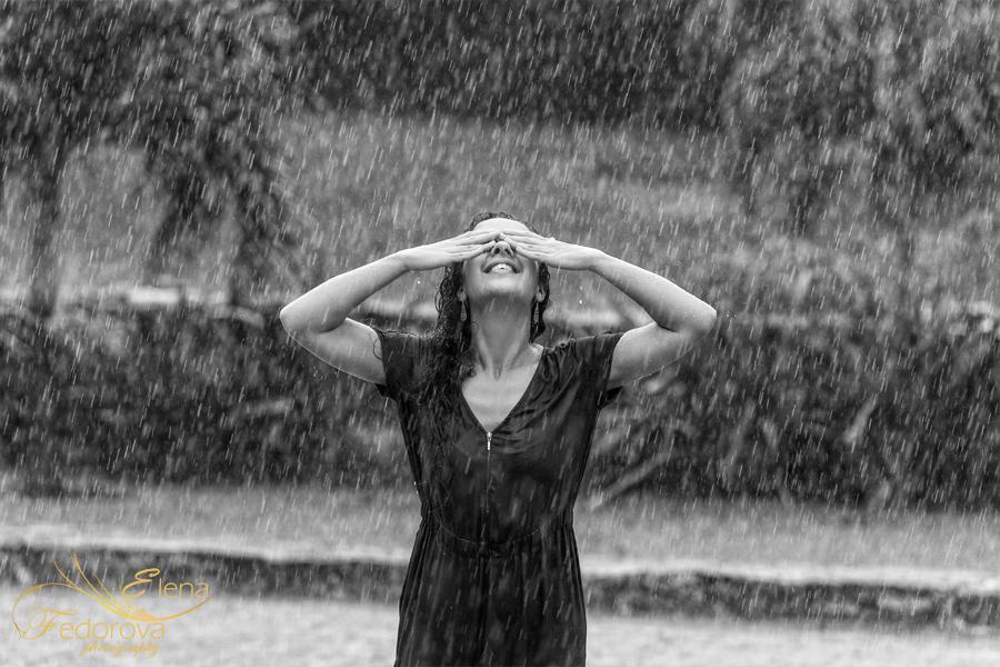 фотосессия под дождем
