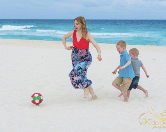 Семейная фотосессия в Канкун Мексика