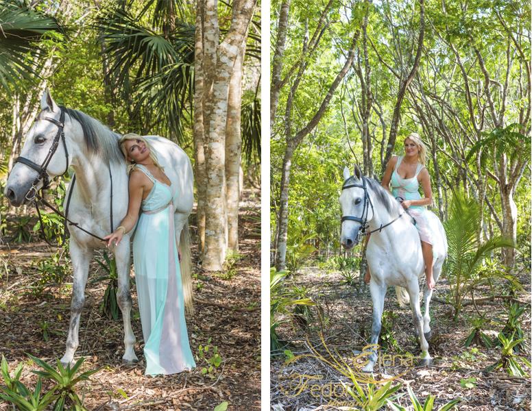фотосессия с лошадьми в лесу