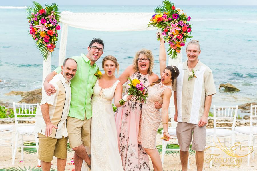 груповое фото на пляже
