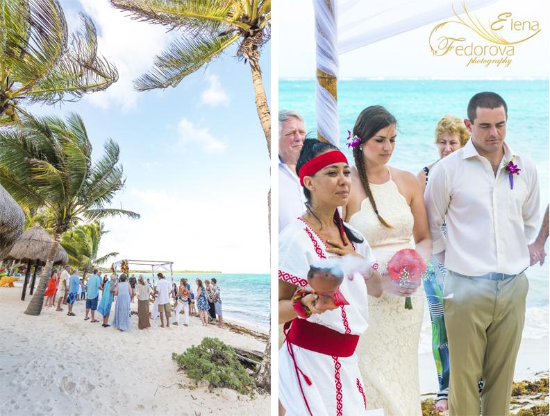 майянская свадебная церемония пляж