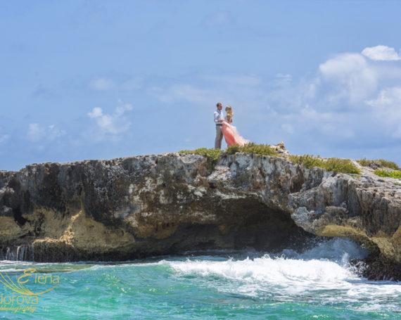 Лав стори фотосессия на острове Косумель Мексика