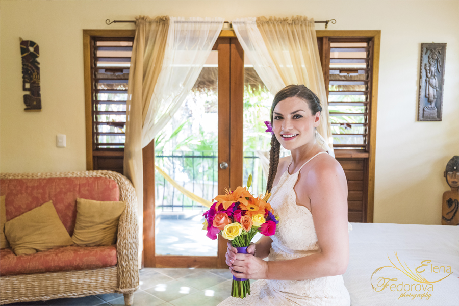 невеста перед церемонией