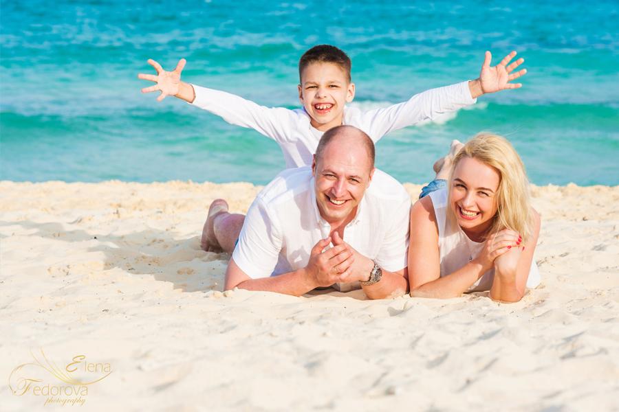 пляж семейная съемка
