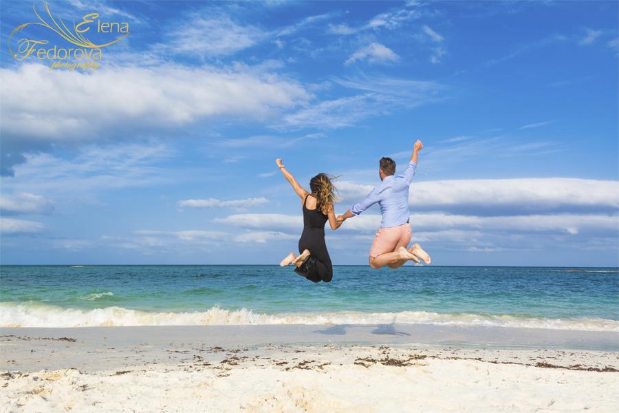 пляжные фотографии пары