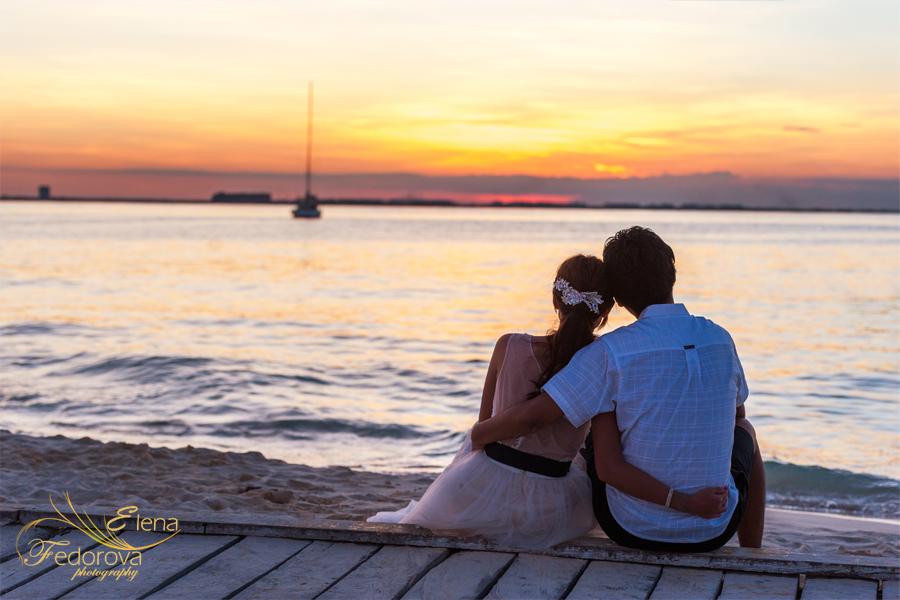 романтическое фото на закате